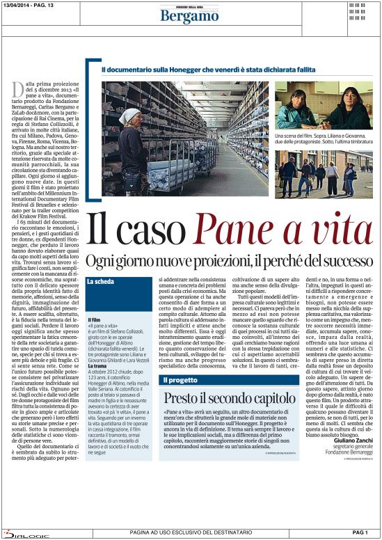 L'articolo di Giuliano Zanchi per il Corriere della Sera